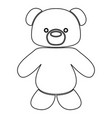 little bear black color path icon vector image vector image