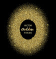 luxury golden glitter oval frame vector image vector image