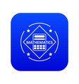 mathematics icon blue vector image vector image