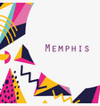 memphis template and background vector image