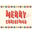 Merry Christmas gifts 3d lettering Isometric vector image vector image