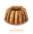 mini bundt cake vector image vector image