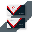 modern geometric red business card design vector image vector image