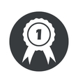Monochrome round 1st place icon vector image vector image