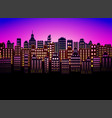 neon city modern color nice background for urban vector image vector image