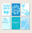 ocean and sea nature life brochures vector image vector image