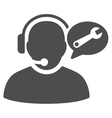 Operator Service Message Flat Icon vector image vector image