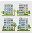 Panel houses flat set1 vector image vector image