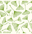 pattern with ginkgo biloba leaves vector image