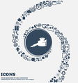 pen and ink icon sign in the center Around the vector image vector image