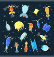 plankton collection bright small water vector image vector image