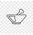 plate concept linear icon isolated on transparent vector image vector image