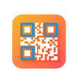 qr code icon modern icon in flat style on vector image