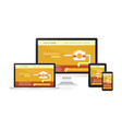 responsive web design - computer laptop tablet vector image vector image