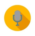 Retro microphone flat icon vector image vector image