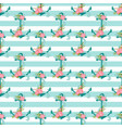 seamless pattern with anchors and flowers