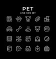 set line icons pet vector image vector image