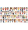 set multicultural character vector image