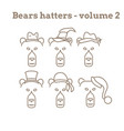 set of bear icon vector image