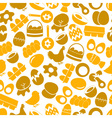 set of egg theme yellow icons seamless pattern vector image vector image