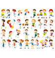 set of exercise character vector image vector image