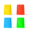 set of multi-colored bags vector image vector image