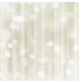 Silver beige holiday Christmas bokeh light vector image vector image