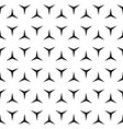 Simple repeat geometric texture black and white vector image