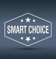 smart choice hexagonal white vintage retro style vector image vector image