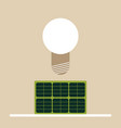 solar powered lamp vector image
