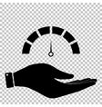 Speedometer sign Flat style icon vector image vector image