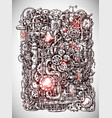 steampunk style hand drawn mechanism vector image vector image