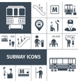 Subway Icons Black vector image vector image