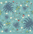 summer seamless pattern with exotic plants and vector image vector image
