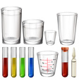 Tubes and glasses vector image vector image