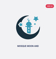 two color mosque moon and star icon from other vector image vector image