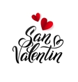 Valentines Day Spanish Black and Red Lettering vector image vector image
