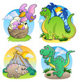 various dinosaur images 2 vector image