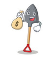 with money bag shovel character cartoon style vector image