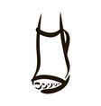 woman feet in high heels icon vector image
