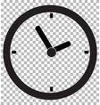 clock icon transparent background clock symbol vector image