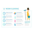 infographic design template for cleaning service vector image
