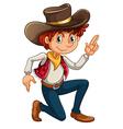 A cowboy vector image vector image
