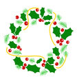 Abstract Christmas wreath vector image vector image