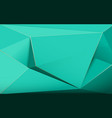 abstract green luxury polygons 3d background vector image vector image