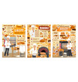 bakery bread pastry desserts and confectionery vector image
