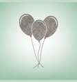balloons set sign brown flax icon on vector image vector image