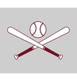 baseball bat ball vector image vector image