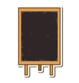 blackboard tool instrument design vector image vector image