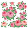 Bouquets of roses vector image vector image